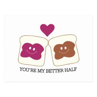 You're My Better Half Postcard