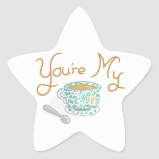 You're My Cup Of Tea Star Sticker