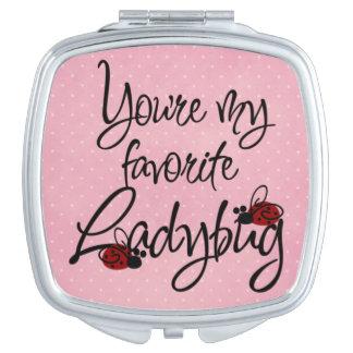 You're My Favorite Ladybug Travel Mirror