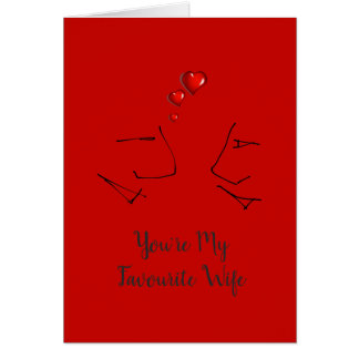 You're My Favourite Wife - Funny Valentines Day Card