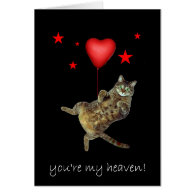 You're my heaven! greeting card