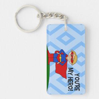 You're My Hero Rectangle Acrylic Key Chain