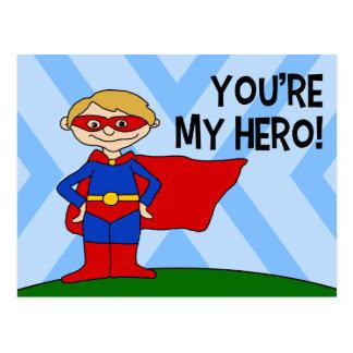 You're My Hero Postcard