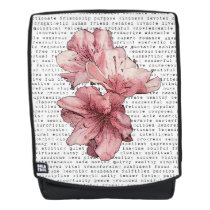 You're My Inspiration Words Typography Pink Flower Backpack