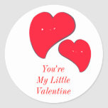 You're My Little Valentine Round Stickers