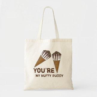 You're My Nutty Buddy Ice Cream Valentine Tote