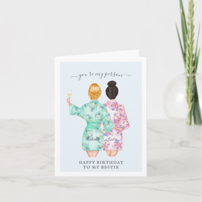 Superb Youre My Person Best Friend Birthday Card Zazzle Com Personalised Birthday Cards Veneteletsinfo