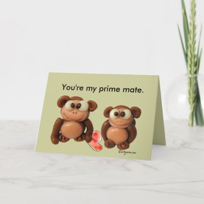You're My Prime Mate Anniversary Card by zooogle