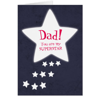 You're my Superstar Dad! Father's Day Card