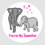 You're My Sweetie Classic Round Sticker