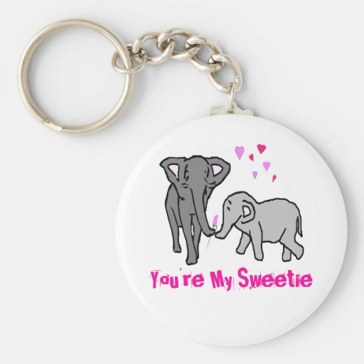 You're My Sweetie Keychains