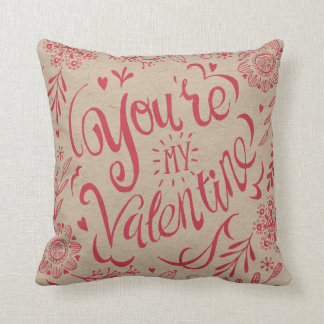 You're my valentine Craft Paper | Throw Pillow