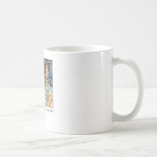 You're never satisfied coffee mug