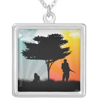 You're never too far square pendant necklace