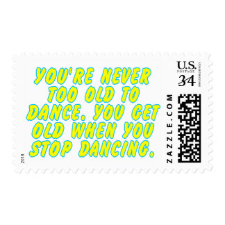 You're never too old to dance... postage stamp