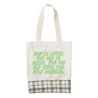 You're never too old to dance... zazzle HEART tote bag