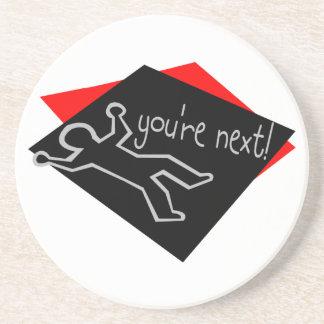 You're Next Chalk Outline Coaster