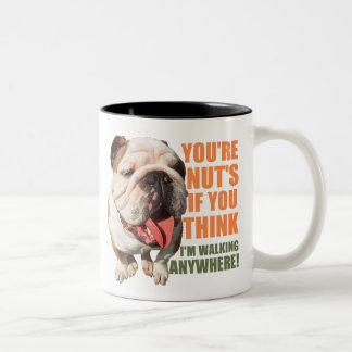 You're Nuts, If you think I'm walking anywhere! Two-Tone Coffee Mug