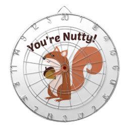 Youre Nutty Dartboard With Darts