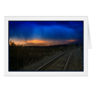 You're On the Right Track Greeting Card