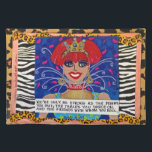 """YOU&#39;RE ONLY AS STRONG AS THE DRINKS YOU MIX. PLACEMAT<br><div class=""""desc"""">BAD GIRL ART PLACEMAT</div>"""