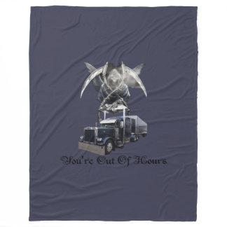 You're Out of Hours Trucker's Fleece Blanket