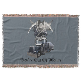You're Out of Hours Trucker's Throw Blanket