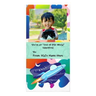 You're Out of this World Kid's Valentine Photo Card