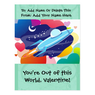 You're Out of this World Valentine Postcard