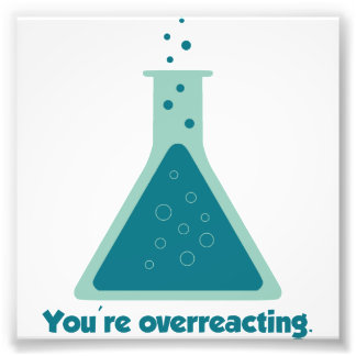 You're Overreacting Chemistry Science Beaker Photo Print