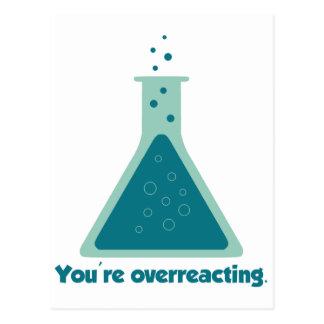 You're Overreacting Chemistry Science Beaker Postcard