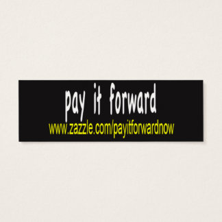 You're pretty! Pay it forward cards. Mini Business Card