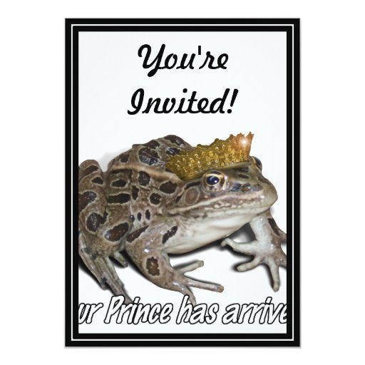 "You're Prince Has Arrived! (Frog Prince) 5"" X 7"" Invitation Card"