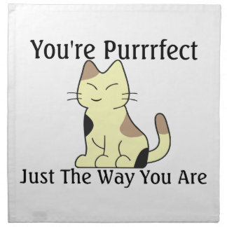 You're Purrrfect Kitty Cat Napkin