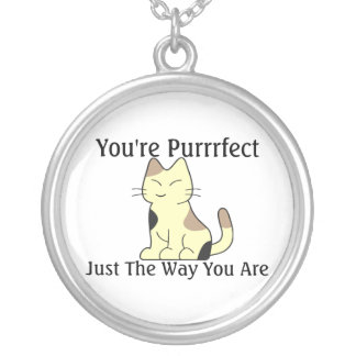 You're Purrrfect Kitty Cat Silver Plated Necklace
