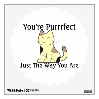 You're Purrrfect Kitty Cat Wall Decal