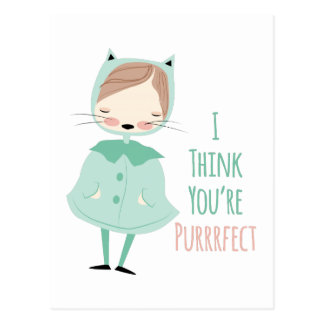 Youre Purrrfect Postcard