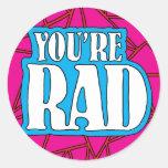You're Rad Sticker Large