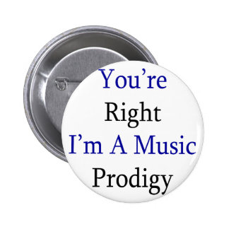 You're Right I'm A Music Prodigy Pinback Button