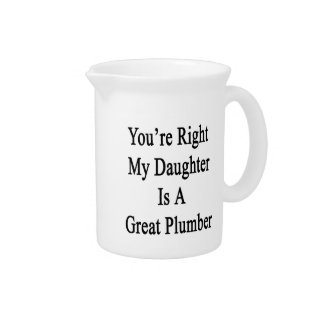 You're Right My Daughter Is A Great Plumber Pitchers