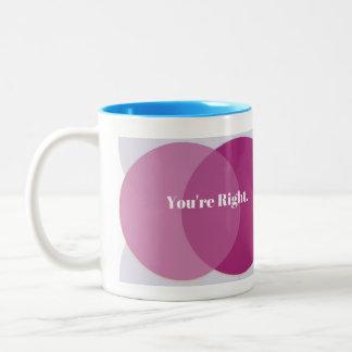 You're Right Two-Tone Coffee Mug