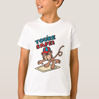 You're Safe Cartoon Monkey T-Shirt