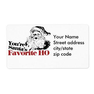 You're Santa Favorite HO Label
