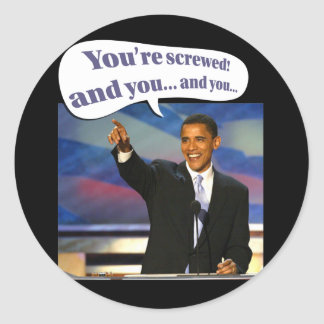 You're screwed classic round sticker