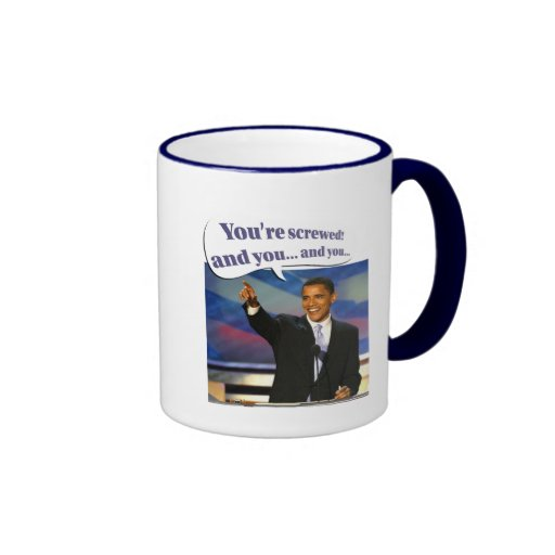 You're screwed ringer coffee mug
