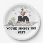You're simply the Best .Personalized text Paper Plate