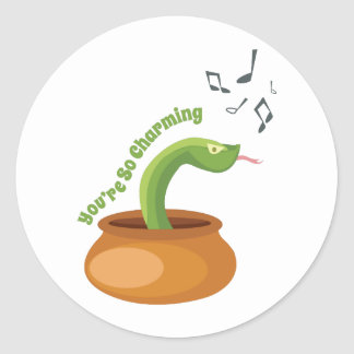 You're So Charming Classic Round Sticker