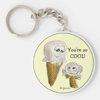 You're so COOL Ice Cream Faces Keychain Key Chain