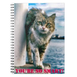 You're So Smart Cute Cat Photo Notebook