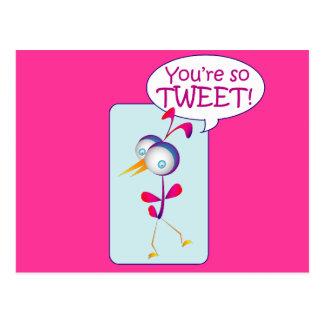 You're So Tweet Postcard